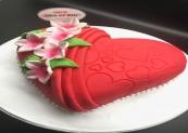 Strawberry Red Fields Cake